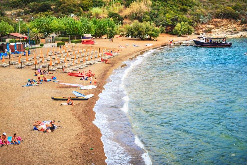 La spiaggia sull'isola di Elba immagine stock libera da diritti