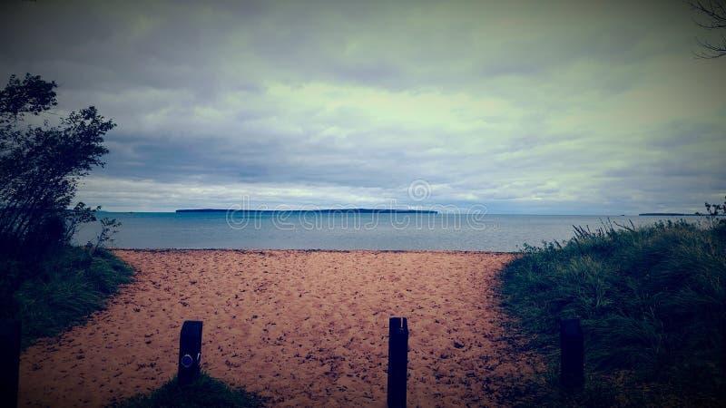 La spiaggia triste immagini stock