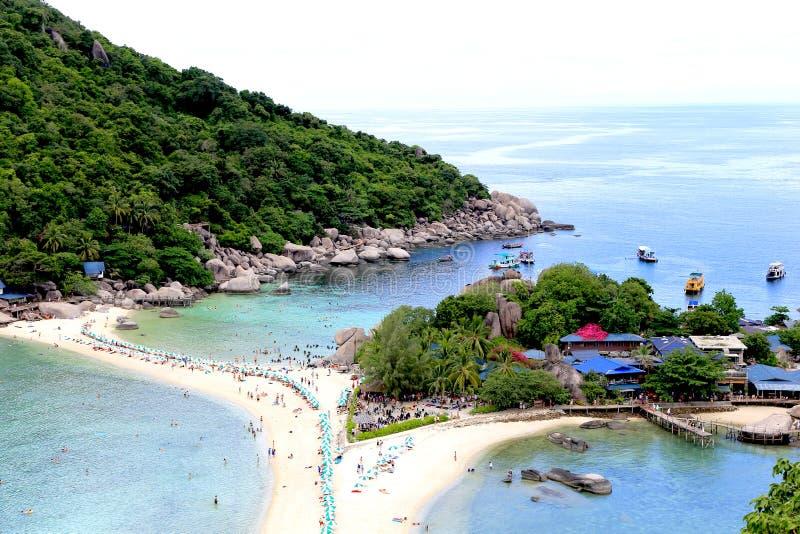 La spiaggia turistica fotografie stock libere da diritti