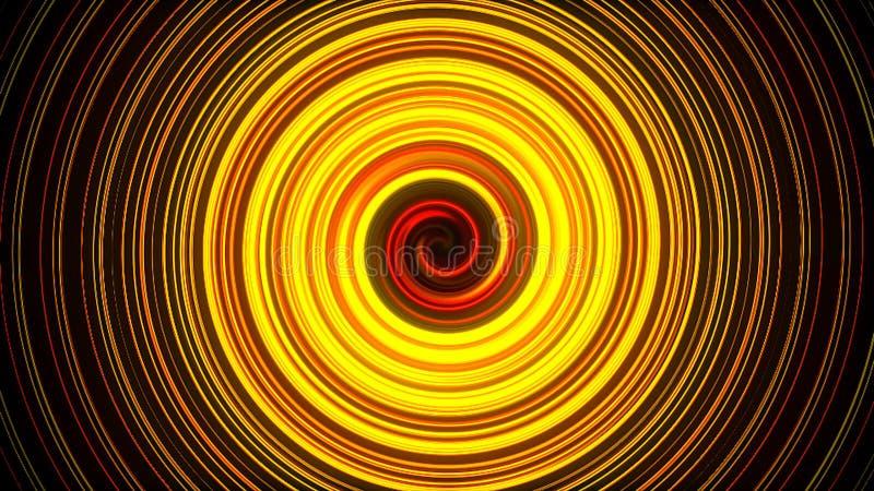 La spirale abstraite tournant et tordant des lignes, le fond généré par ordinateur, 3D rendent le fond illustration libre de droits