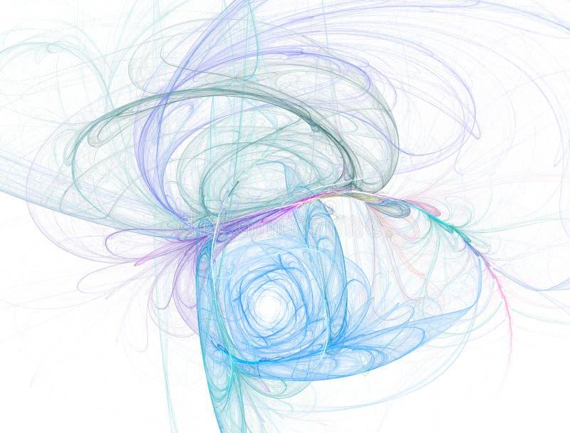 La spirale astratta di caos curva il reticolo di memoria royalty illustrazione gratis