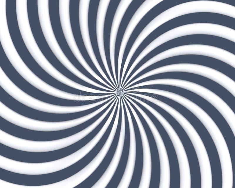 La spirale optique d'art courbe la triangle 05 illustration stock