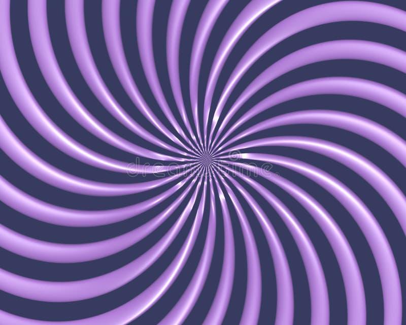 La spirale optique d'art courbe la triangle 06 illustration de vecteur
