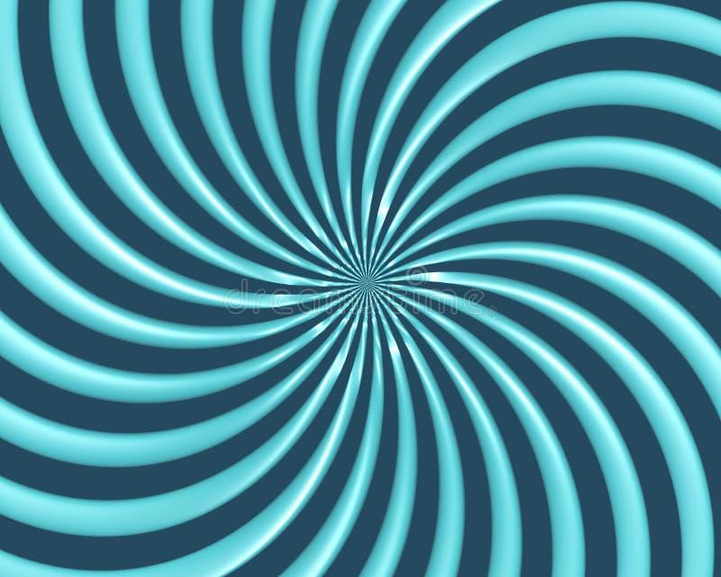 La spirale optique d'art courbe la triangle 07 illustration stock