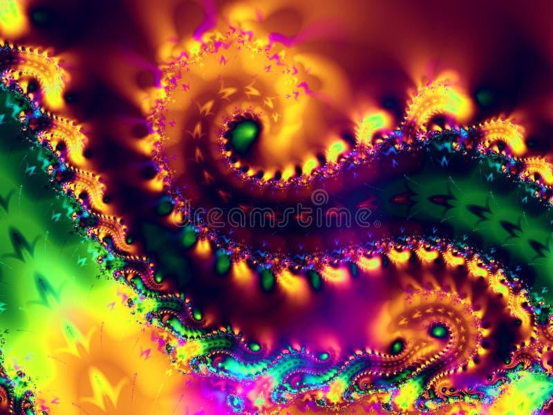 La spirale tourbillonne texture de fractale photos stock