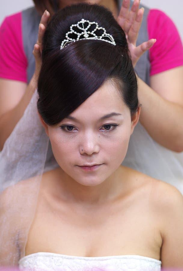 La sposa compone fotografia stock