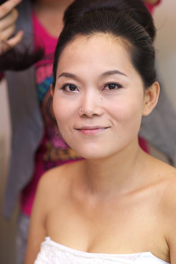 La sposa compone fotografie stock