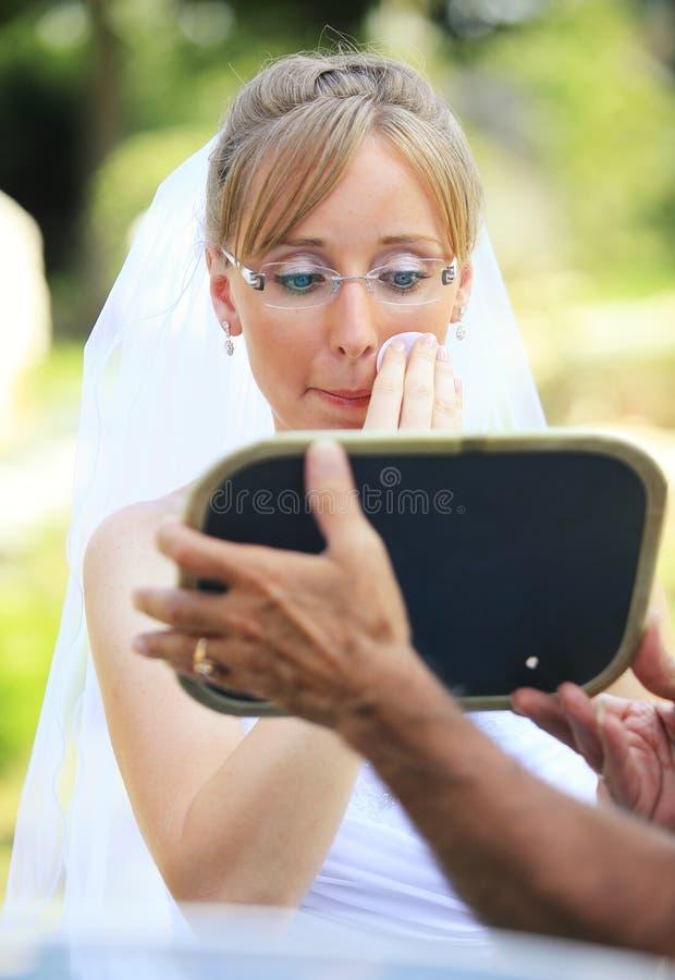 La sposa compone immagine stock