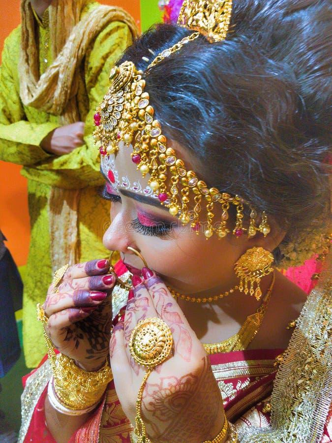 La sposa del bengalese immagine stock