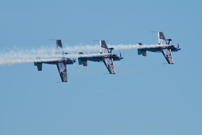 La squadra aerobatic della visualizzazione delle lamierine immagini stock libere da diritti