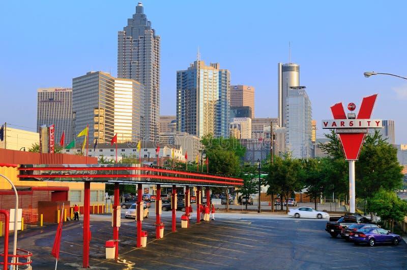 La squadra di college a Atlanta, Georgia immagine stock libera da diritti