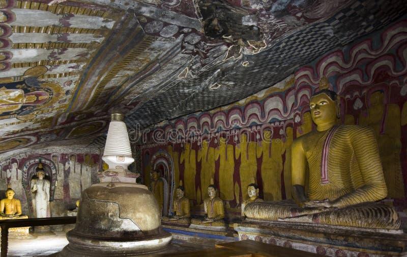 La Sri Lanka - tempiale buddista della caverna fotografia stock libera da diritti