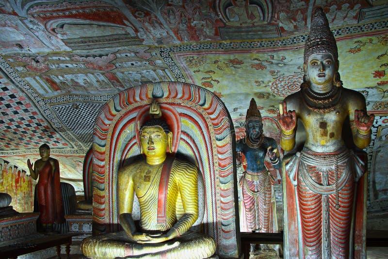 La Sri Lanka: Tempiale della caverna di Dambulla fotografie stock libere da diritti