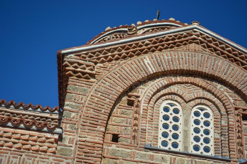La st Clement Church in Ocrida - madre santa della chiesa di Dio Peribleptos fotografia stock