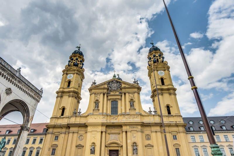 La st Kajetan di Theatinerkirche a Monaco di Baviera, Germania fotografie stock libere da diritti