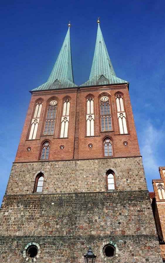 La st Nicholas Church Nikolaikirche è la più vecchia chiesa a Berlino, Germania fotografie stock