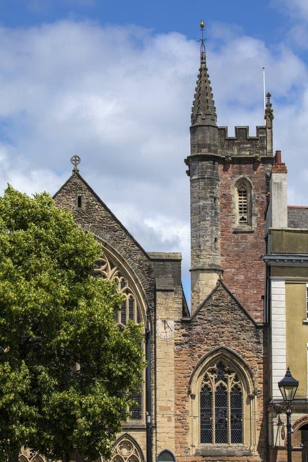 La st segna la chiesa o Lord Mayors Chapel in Bristol immagine stock