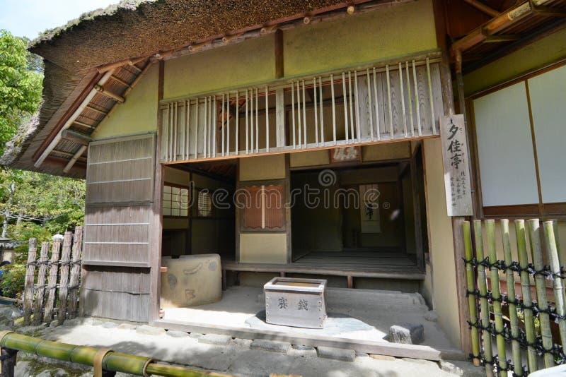 La stanza antica del tè Tempio buddista di zen di Kinkaku-ji kyoto japan fotografia stock libera da diritti