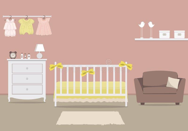 La stanza del bambino per un neonato illustrazione di stock