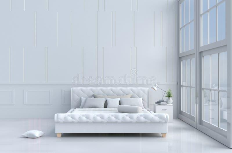 La stanza del letto dentro si rilassa il giorno fotografie stock