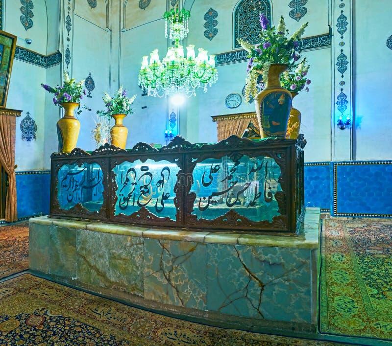 La stanza della tomba dello scià Nematollah Vali Shrine, Mahan, Iran immagine stock