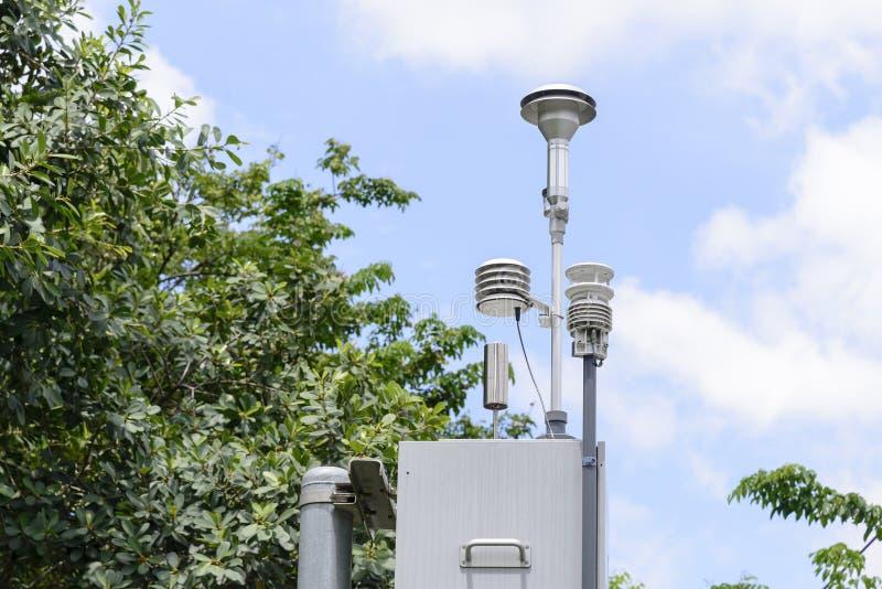 La station de détecteur de pollution photos libres de droits