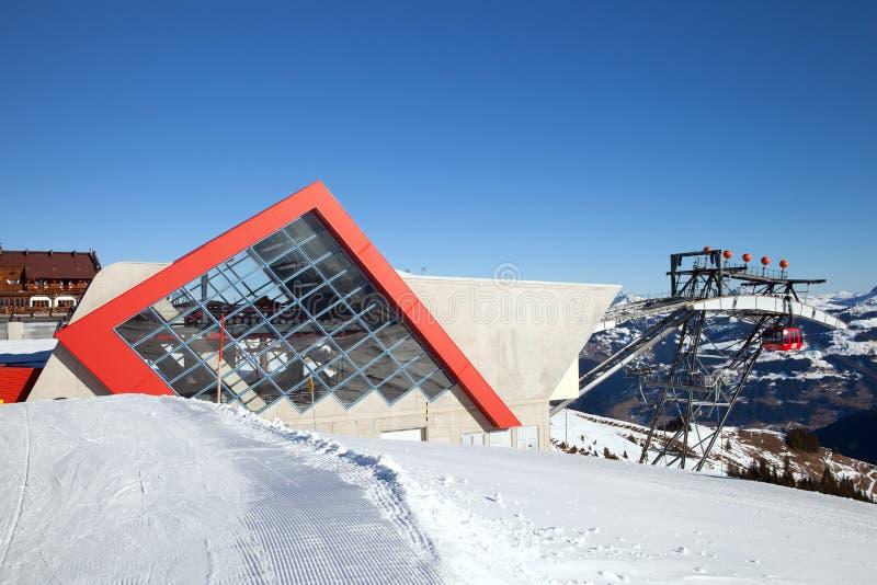 La station de la benne suspendue en Autriche photo stock