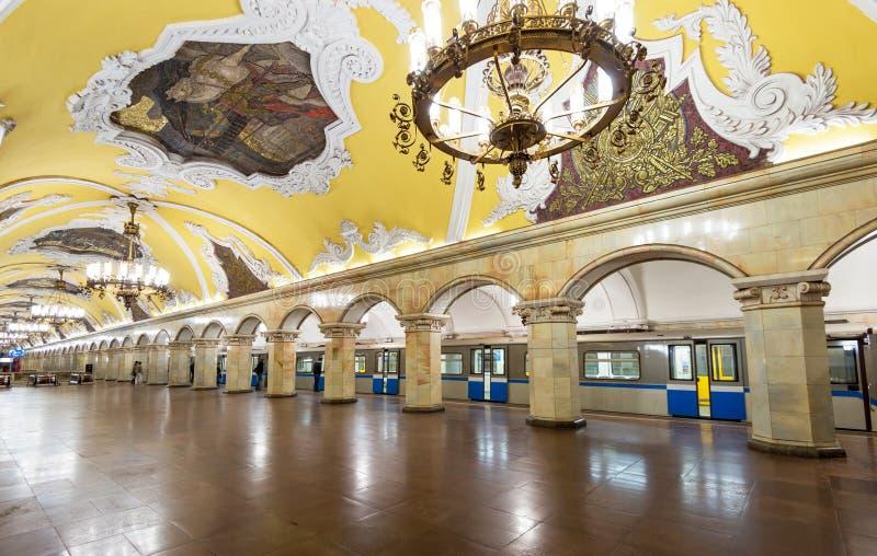 La station de métro Komsomolskaya à Moscou, Russie photos stock
