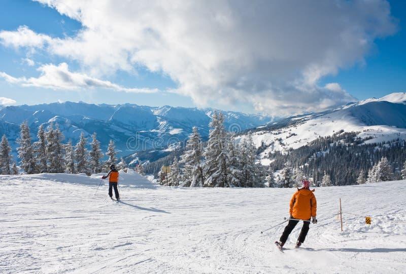 La station de sports d'hiver Zell AM voient photographie stock libre de droits