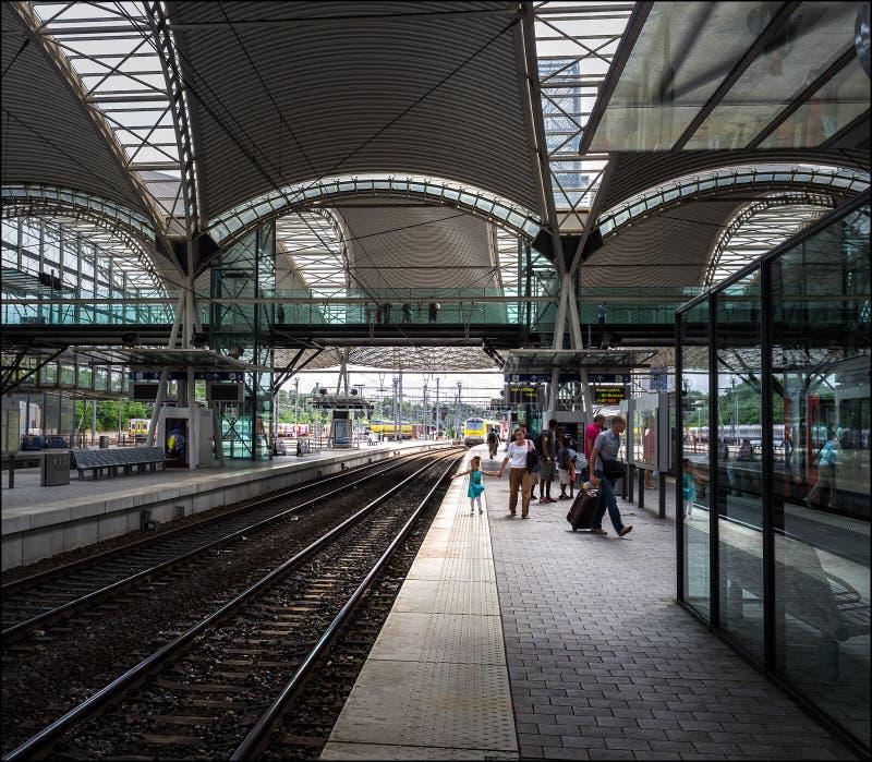 La station de train de la ville de Louvain belgium photos libres de droits