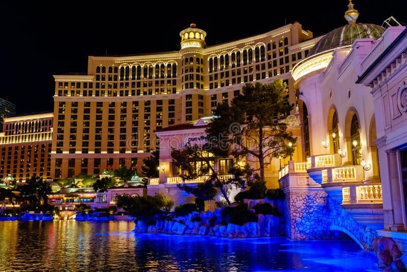 La station de vacances de casino de Bellagio à Las Vegas photos libres de droits