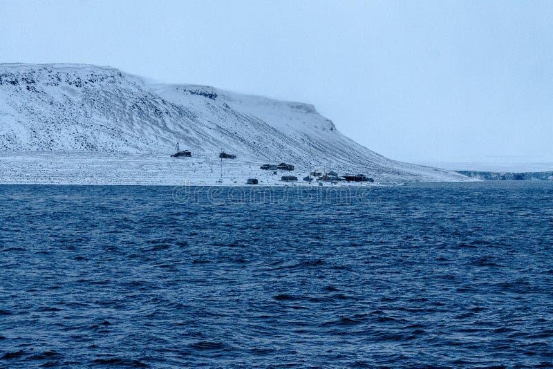 La station polaire jetée image libre de droits