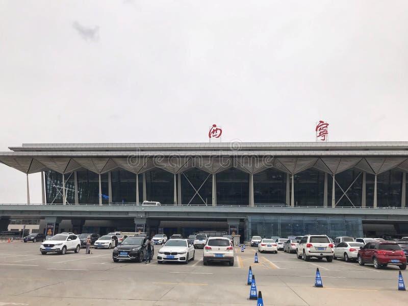 La station service de Xining Xining est la capitale de la province de Qinghai en Chine occidentale, et la plus grande ville sur l images libres de droits
