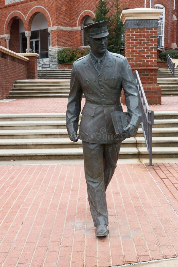 Statua del militare allo Sc di Clemson University immagine stock libera da diritti
