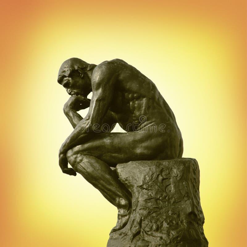 La statua del pensatore fotografia stock