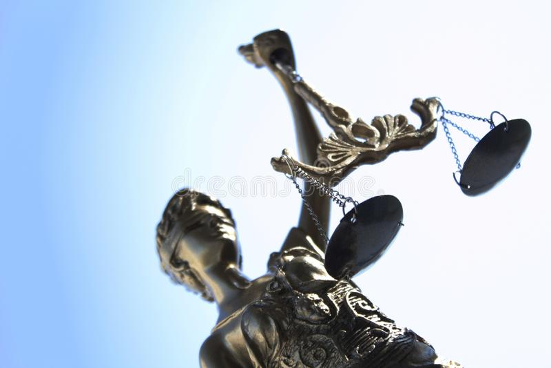 La statua del simbolo della giustizia, immagine legale di concetto di legge fotografia stock