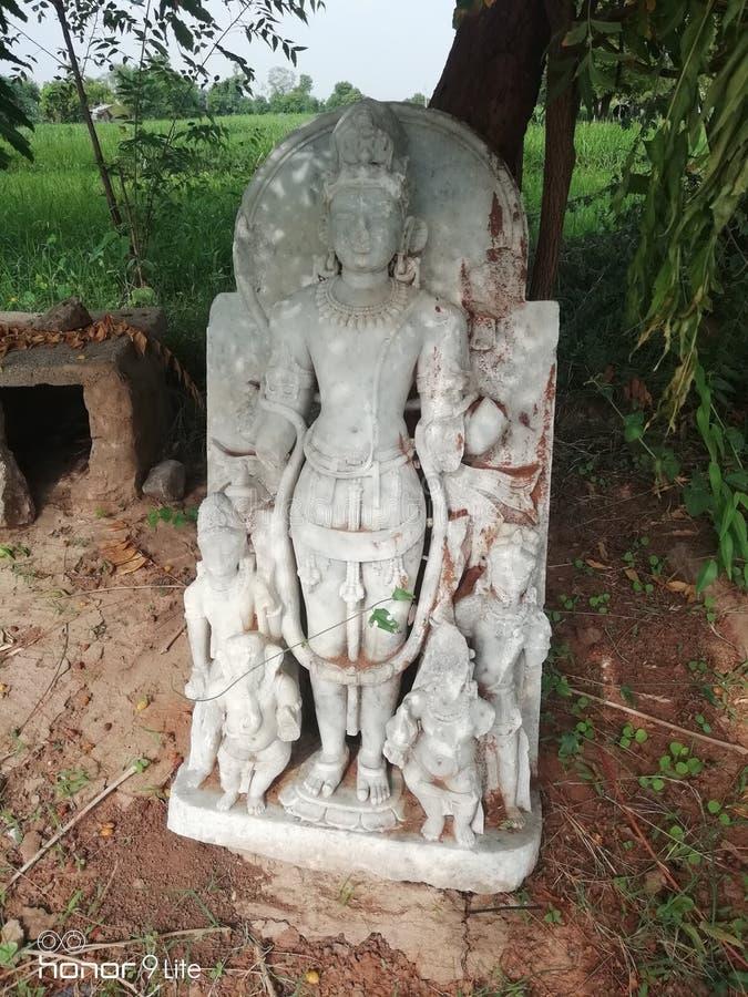 La statua del tempio di Mahakali, Raviya immagine stock libera da diritti