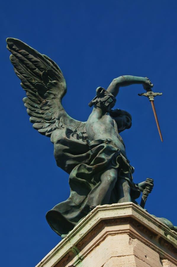 La statua dell'arcangelo Michael, Roma, Italia fotografie stock libere da diritti