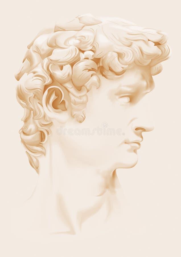 La statua di David illustrazione vettoriale