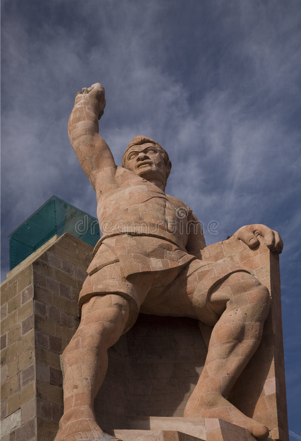 La statua di EL Pipilia trascura Guanajuato Messico fotografie stock libere da diritti