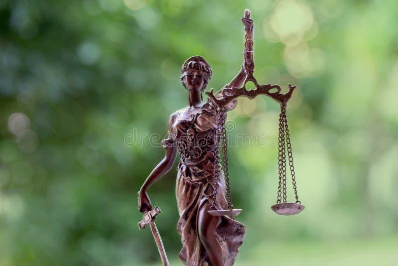 La statua di giustizia fotografia stock