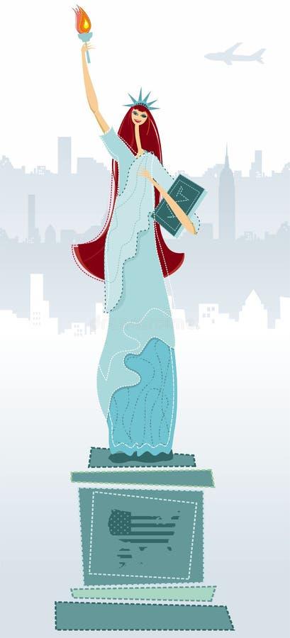 La statua di libertà illustrazione vettoriale
