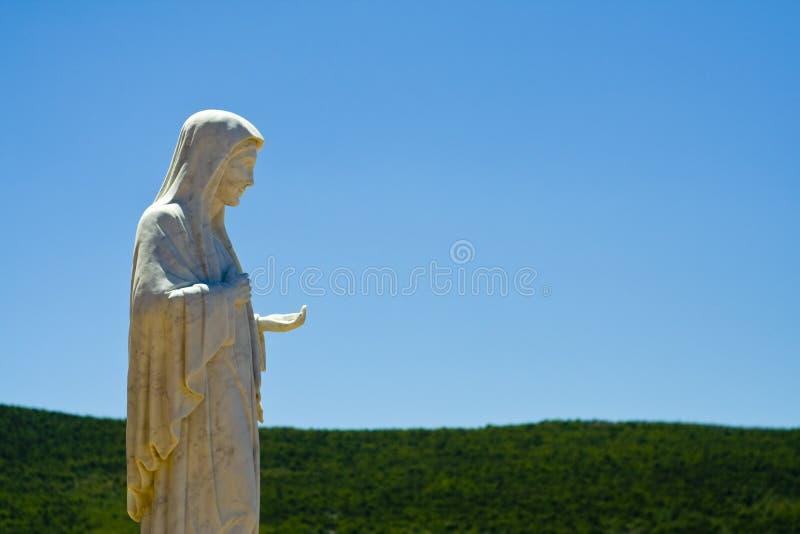 La statua di Mary in Medjugorie immagini stock