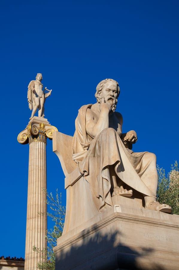 La statua di Socrates. Atene, Grecia. fotografia stock