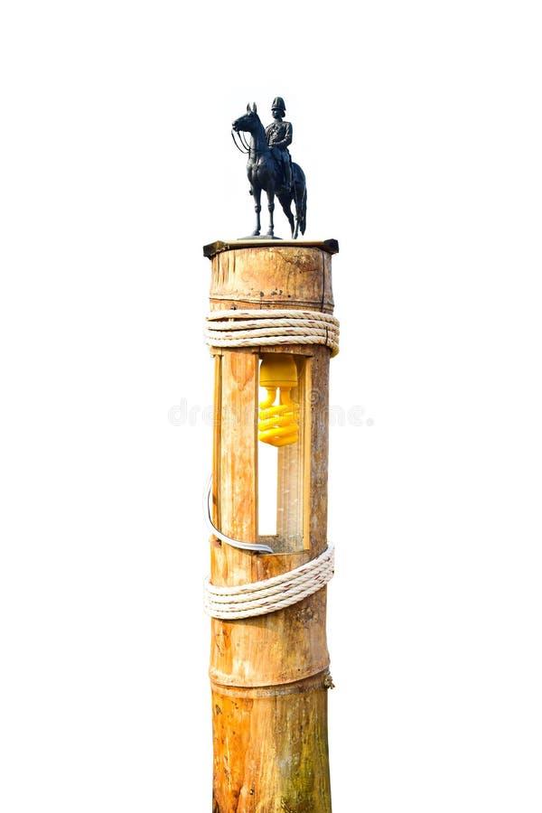 La statue équestre du Roi Chulalongkorn Rama V chez le Bamb images stock