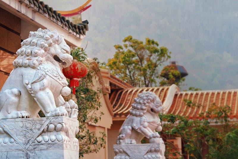 La statue chinoise de lion image libre de droits