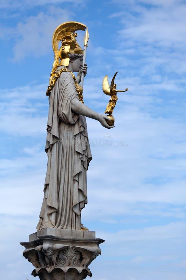 La statue d'Athéna photographie stock libre de droits