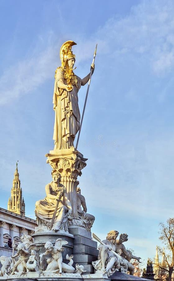 La statue d'Athéna, Vienne images libres de droits