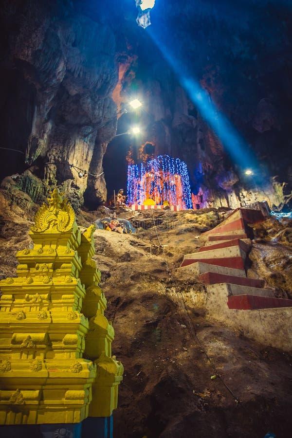 La statue d'hindouisme du temple chez Batu foudroie en Kuala Lumpur photo libre de droits