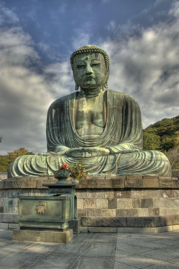 La statue de Bouddha. images libres de droits